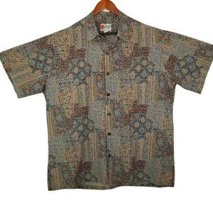 Hilo Hattie Mens Vintage Cotton Lawn Hawaiian Shir